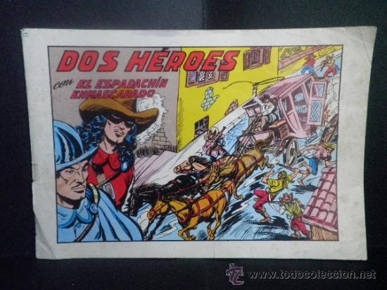 DOS HEROES CON EL ESPADACHIN ENMASCARADO - Nº 53 (Tebeos y Comics - Valenciana - Espadachín Enmascarado)