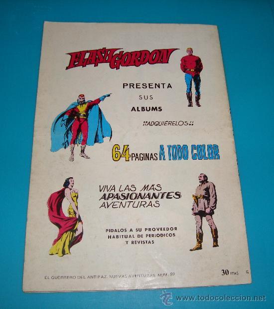Tebeos: EL GUERRERO DEL ANTIFAZ Nº 97 AÑO 1980 EDITORA VALENCIANA SA - Foto 2 - 36893984