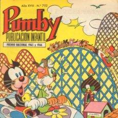 Tebeos: TEBEOS-COMICS GOYO - PUMBY - VALENCIANA 1955 - Nº 752 *AA99. Lote 37148642