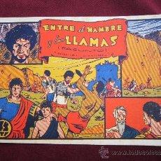 Tebeos: ENTRE EL HAMBRE Y LAS LLAMAS (SAGUNTO). EDITORIAL VALENCIANA ORIGINAL 1941 RARO. Lote 37238007