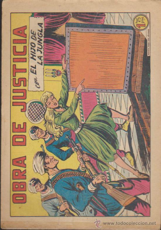 EL HIJO DE LA JUNGLA Nº 32. VALENCIANA 1956. (Tebeos y Comics - Valenciana - Hijo de la Jungla)