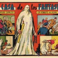 Tebeos: ROBERTO ALCAZAR Y PEDRIN - NÚM. 195 - (1.25 PTS.) - LA CASA DE LOS FANTASMAS. Lote 37489496
