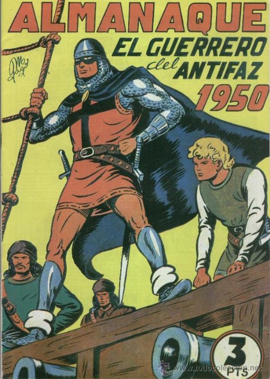 EL GUERRERO DEL ANTIFAZ ALMANAQUE 1950 EDIT. VALENCIANA- REEDICION (Tebeos y Comics - Valenciana - Guerrero del Antifaz)