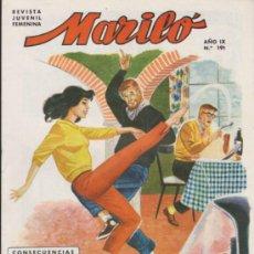 Tebeos: MARILÓ Nº 191. VALENCIANA 1950.. Lote 37379465