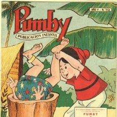 Tebeos: PUMBY Nº 113 ORIGINAL EDI. VALENCIANA 1958. Lote 37508832
