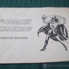 Tebeos: EL ESPADACHÍN ENMASCARADO .VALENCIANA. 1981. Nº1 (SIN PORTADA NI CONTRAPORTADA) . Lote 37640808