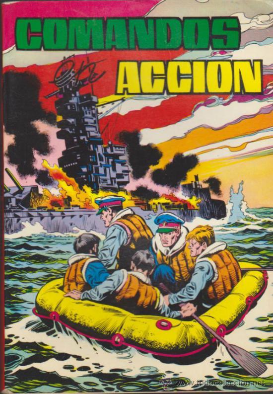 COMANDOS EN ACCIÓN TOMO 4. (CONTIENE LOS EJEMPLARES: 34,35,36 Y 37) (Tebeos y Comics - Valenciana - Otros)