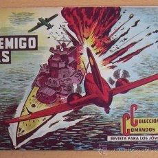 Tebeos: COLECCIÓN COMANDOS Nº 65 - EDITORIAL VALENCIANA 1954. Lote 37817291