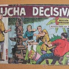 Tebeos: COLECCIÓN COMANDOS ROY CLARK Nº 98, EL ÚLTIMO DE LA COLECCIÓN - EDITORIAL VALENCIANA 1954. Lote 37817977