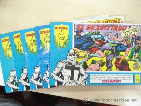 EL GUERRERO DEL ANTIFAZ ,LOTE DE 5 EJEMPLARES SERIE AZUL (Tebeos y Comics - Valenciana - Guerrero del Antifaz)