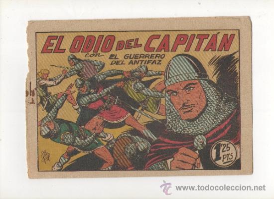 EL GUERRERO DEL ANTIFAZ Nº96.EL ODIO DEL CAPITAN.VALENCIANA (Tebeos y Comics - Valenciana - Guerrero del Antifaz)