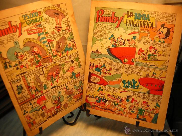 LOTE DE 2 ANTIGUO COMIC J.SANCHIS PUMBY - 25.000$ POR GRINGO - LA BOMBA FRIGORIFICA (Tebeos y Comics - Valenciana - Pumby)