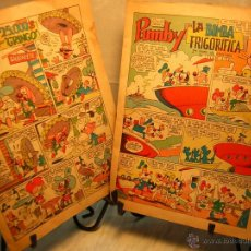Tebeos: LOTE DE 2 ANTIGUO COMIC J.SANCHIS PUMBY - 25.000$ POR GRINGO - LA BOMBA FRIGORIFICA. Lote 39504973