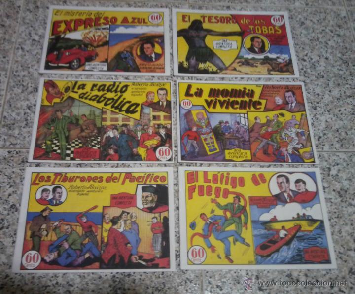 ROBERTO ALCAZAR LOTE DE 6 TEBEOS REEDICION. (Tebeos y Comics - Valenciana - Roberto Alcázar y Pedrín)