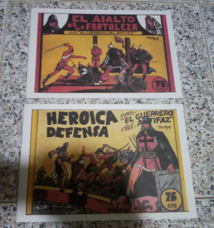 EL GUERRERO DEL ANTIFAZ LOTE DE 2 TEBEOS REEDICION. (Tebeos y Comics - Valenciana - Guerrero del Antifaz)