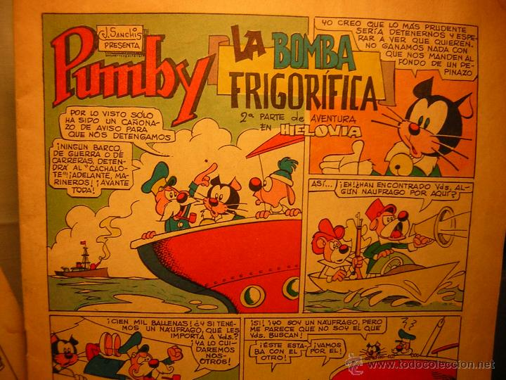 Tebeos: lote de 2 antiguo comic j.sanchis pumby - 25.000$ por gringo - la bomba frigorifica - Foto 6 - 39504973