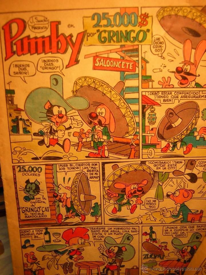 Tebeos: lote de 2 antiguo comic j.sanchis pumby - 25.000$ por gringo - la bomba frigorifica - Foto 5 - 39504973