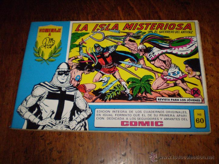 EL GUERRERO DEL ANTIFAZ Nº 60 - LA ISLA MISTERIOSA - HOMENAJE A MANUEL GAGO EDITORA VALENCIANA (Tebeos y Comics - Valenciana - Guerrero del Antifaz)