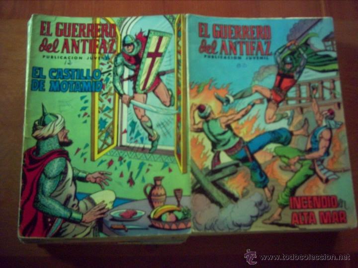 LOTE EN OFERTA EL GUERRERO DEL ANTIFAZ. LOTE . VER NÚMEROS Y DESCRIPCIÓN. (Tebeos y Comics - Valenciana - Guerrero del Antifaz)