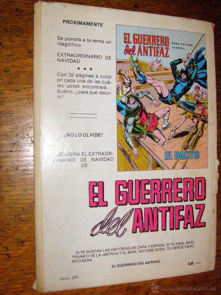 Tebeos: EL GUERRERO DEL ANTIFAZ - Nº 285 - EL FOSO DE LOS COBARDES - - Foto 2 - 40347559