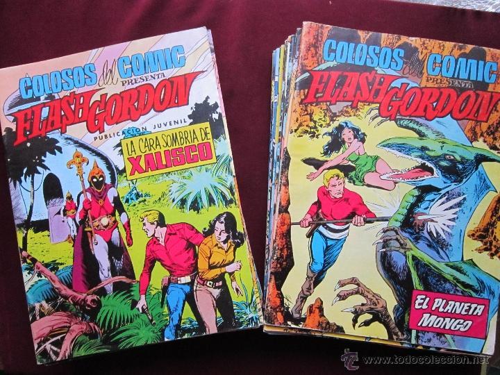 FLASH GORDON. COLOSOS DEL COMIC COMPLETA. 38 EJEMPLARES. EDITORIAL VALENCIANA 1979 TEBENI MBE (Tebeos y Comics - Valenciana - Colosos del Comic)