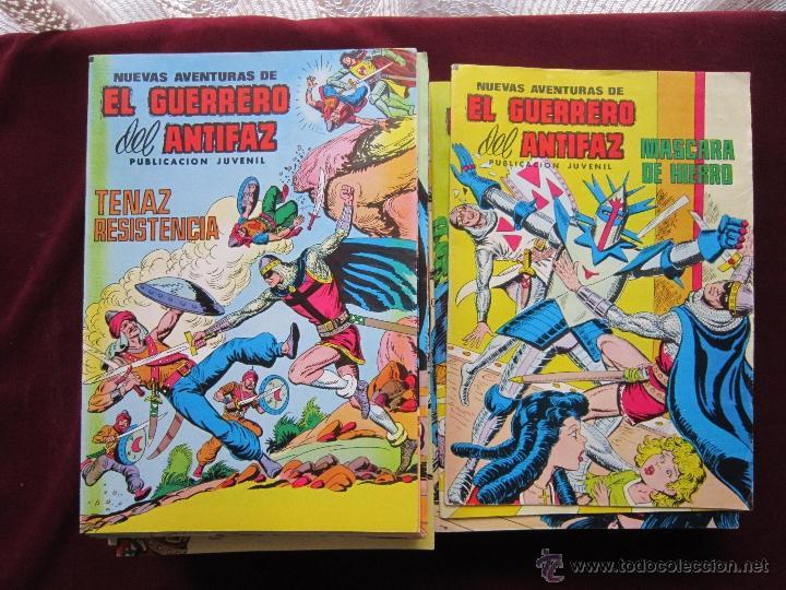 NUEVAS AVENTURAS DEL GUERRERO DEL ANTIFAZ COMPLETA. 110 COMICS VALENCIANA. EXCELENTES TEBENI (Tebeos y Comics - Valenciana - Guerrero del Antifaz)