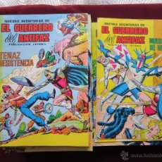Tebeos: NUEVAS AVENTURAS DEL GUERRERO DEL ANTIFAZ COMPLETA. 110 COMICS VALENCIANA. EXCELENTES TEBENI. Lote 41112804