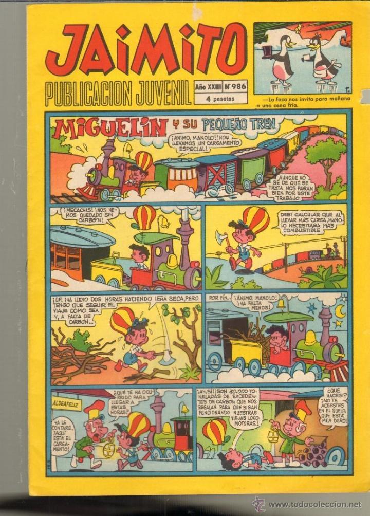 TEBEOS-COMICS CANDY - JAIMITO - VALENCIANA - Nº 986 - INCLUYE HISTORIETA DE AMBROS *AA99 (Tebeos y Comics - Valenciana - Jaimito)