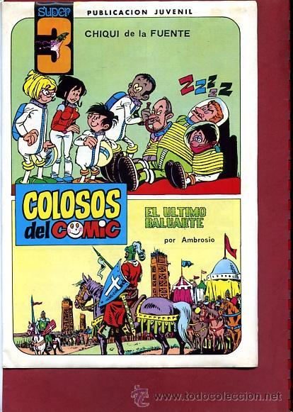 COLOSOS DEL COMIC SUPER 3 Nº 4 CON UNA AVENTURA COMPLETA DE AMBROS (Tebeos y Comics - Valenciana - Colosos del Comic)
