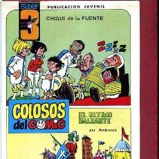 Tebeos: COLOSOS DEL COMIC SUPER 3 Nº 4 CON UNA AVENTURA COMPLETA DE AMBROS. Lote 278918773