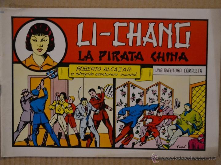 ROBERTO ALCAZAR Y PEDRIN Nº 35. LI - CHANG LA PIRATA CHINA. VALENCIANA 1982. LITERACOMIC (Tebeos y Comics - Valenciana - Roberto Alcázar y Pedrín)