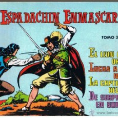 Tebeos: EL ESPADACHIN ENMASCARADO. TOMO NUMERO 3. RETAPADO. VALENCIANA 1981. Lote 42535751