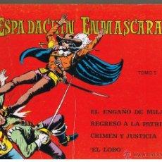Tebeos: EL ESPADACHIN ENMASCARADO. TOMO NUMERO 5. RETAPADO. VALENCIANA 1981. Lote 42535794