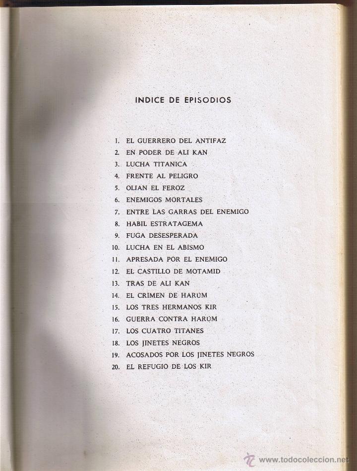 Tebeos: EL GUERRERO DEL ANTIFAZ - TOMOS 1 - 2 - 3 - 4 - 5 - 6 - EDIT VALENCIANA - 1972 - - Foto 4 - 42932207