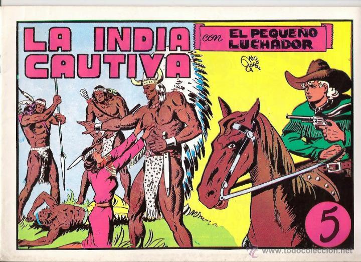 EL PEQUEÑO LUCHADOR Nº 5 LA INDIA CAUTIVA (Tebeos y Comics - Valenciana - Pequeño Luchador)