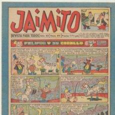 Tebeos: JAIMITO 419. VALENCIANA 1945. . Lote 43007353