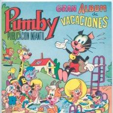 Tebeos: PUMBY - GRAN ALBUM DE VACACIONES - ED. VALENCIANA - 1970. Lote 43121131
