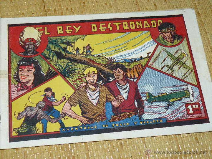 TEBEOS-COMICS CANDY - JULIO Y RICARDO - EL REY DESTRONADO - VALENCIANA - 1943 - MUY DIFICIL *BB99 (Tebeos y Comics - Valenciana - Otros)