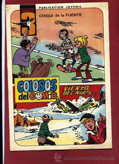 COLOSOS DEL COMIC SUPER 3 Nº 10 CON UNA AVENTURA COMPLETA DE AMBROS 1983 VALENCIANA ...NINC (Tebeos y Comics - Valenciana - Colosos del Comic)