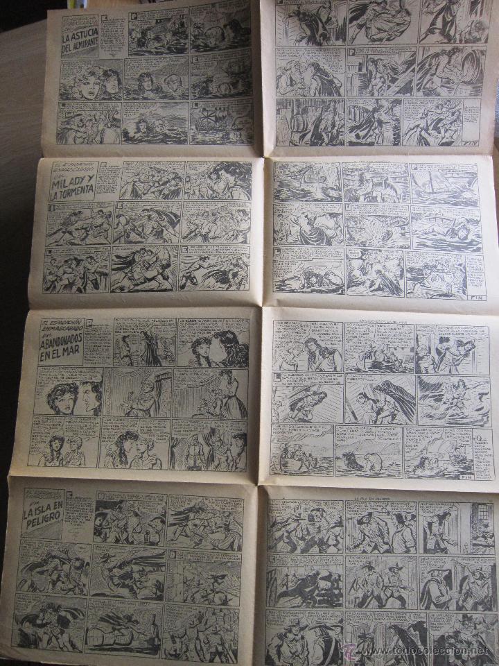 Tebeos: Pliego de imprenta con portadas de El Espadachín Enmascarado. Originales. Valenciana. tebeni Rareza - Foto 2 - 43479571
