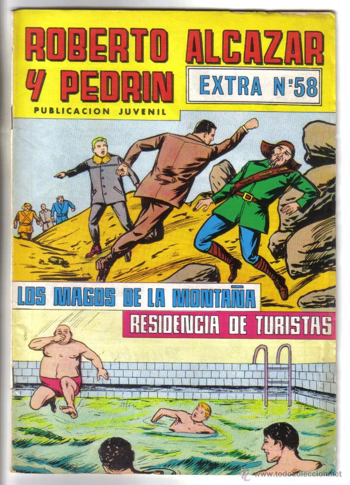 ROBERTO ALCAZAR Y PEDRIN, EXTRA Nº 58. VALENCIANA 1980. LITERACOMIC. (Tebeos y Comics - Valenciana - Roberto Alcázar y Pedrín)