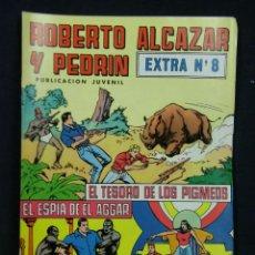 Tebeos: TEBEO COMIC ROBERTO ALCÁZAR Y PEDRÍN PUBLICACIÓN JUVENIL 1976 EXTRA Nº 8 EL TESORO DEL LOS PIGMEOS. Lote 44269978