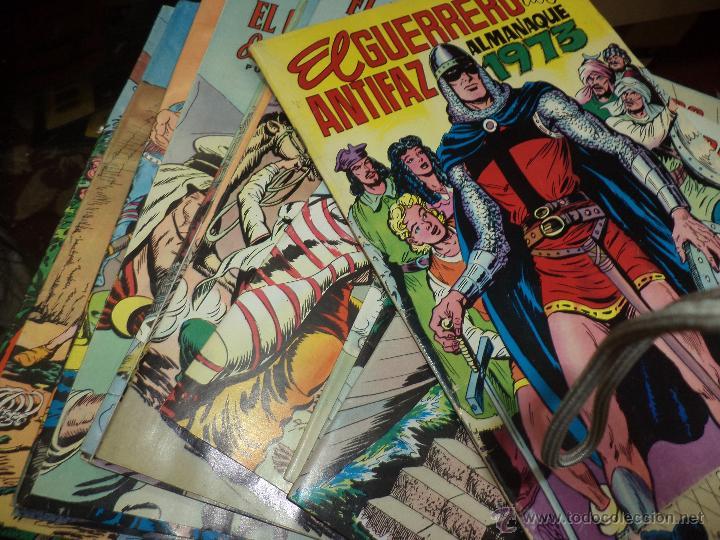 Tebeos: Lote Guerrero del Antifaz-16 números de 2 ptas y Almanaque 1973 con poster. - Foto 3 - 44743957