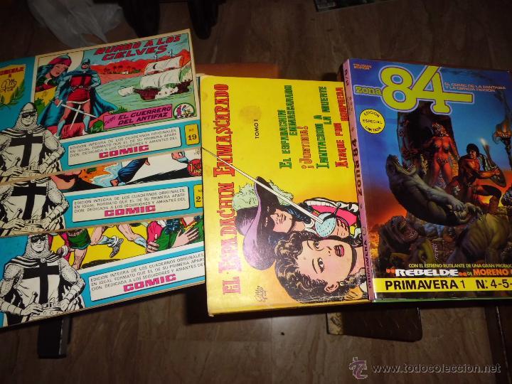 LOTE DE COMICS EL GUERRERO EL ESPADACHIN ENMASCARADO Y ZONA 84 ED. ESPECIAL ED VALENCIANA (Tebeos y Comics - Valenciana - Espadachín Enmascarado)