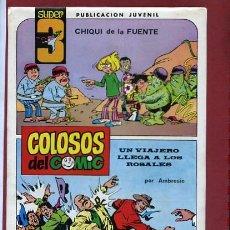 Tebeos: COLOSOS DEL COMIC SUPER 3 Nº 3 CON UNA AVENTURA COMPLETA DE AMBROS. Lote 47092807