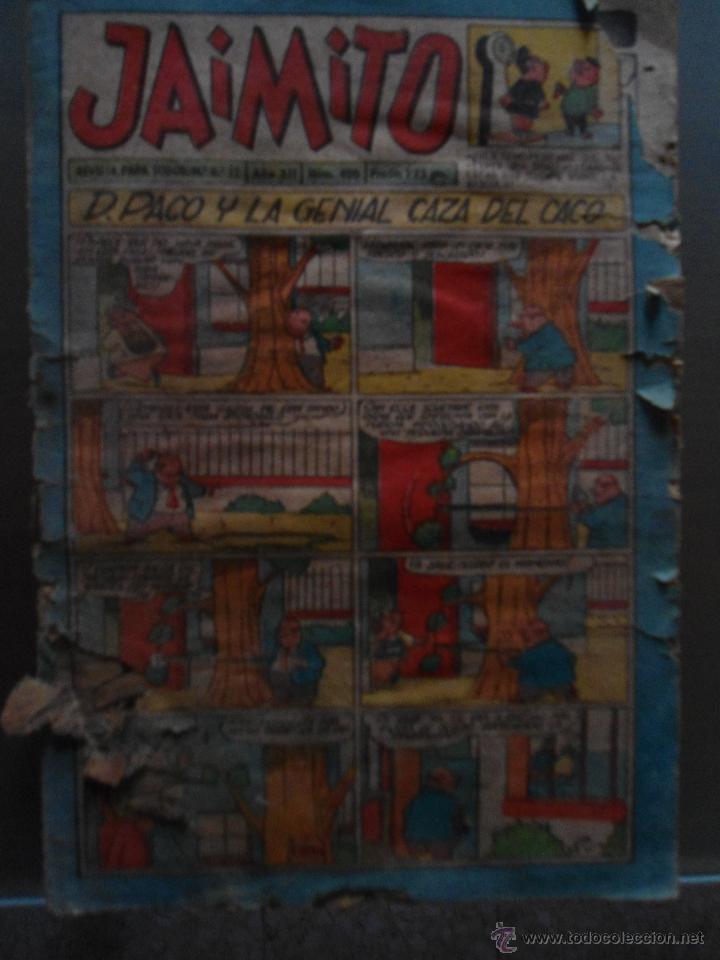 ANTIGUO TEBEO JAIMITO - DON PACO Y LA GENIAL CAZA DEL CACO (Tebeos y Comics - Valenciana - Jaimito)