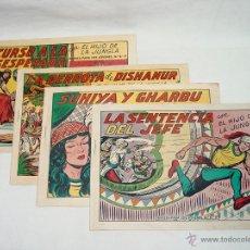 Tebeos: LOTE 4 TEBEOS. EL HIJO DE LA JUNGLA. EDITORIAL VALENCIANA. Nº 35-36-37-38. VALENCIA. AÑOS 50. Lote 45378763