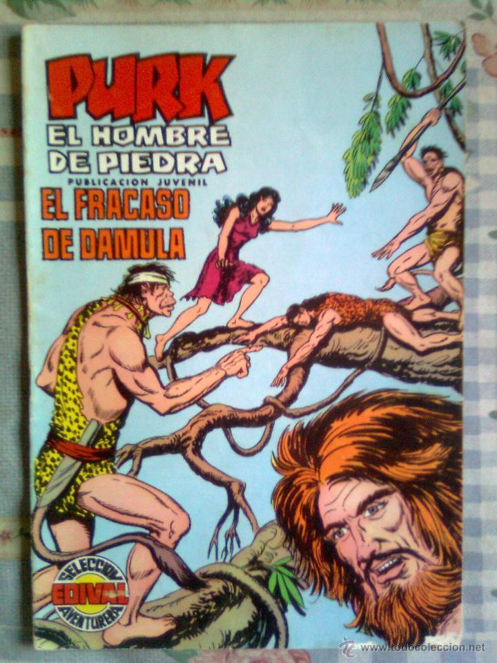 PURK EL HOMBRE DE PIEDRA- Nº 13 -GRAN MANUEL GAGO-REEDICIÓN COLOR-1974-CORRECTO-LEAN-0497 (Tebeos y Comics - Valenciana - Selección Aventurera)