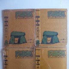Tebeos: TAPAS PURK 1 AL 4 (VALENCIANA 1975) CON LAS GUARDAS E ÍNDICE DE CADA TAPA EN INTERIOR. GAGO. OFRT. Lote 109024760