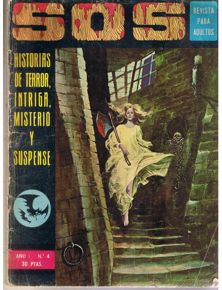 S. O. S. HISTORIAS DE TERROR, INTRIGA, MISTERIO Y SUSPENSE. AÑO I. Nº 4. EDIVAL 1975 (RF.MA) (Tebeos y Comics - Valenciana - S.O.S)